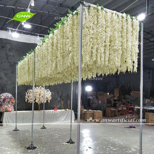 GNW FLWH1707006 New design wedding decor artificial wisteria flower backdrop for ceiling