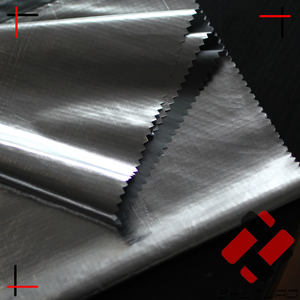 sun reflective waterproof nylon ripstop silver tarp fabric