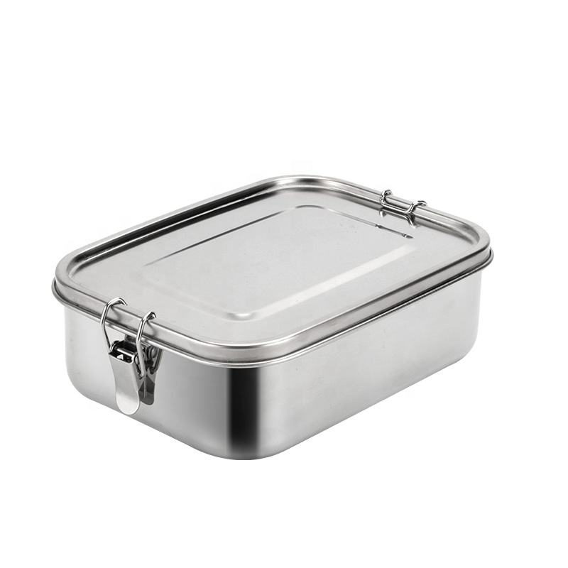 The new wholesale 2020 stainless steel double handle bento box lunch box with sealing ring, sealing leakproof without dead Angle