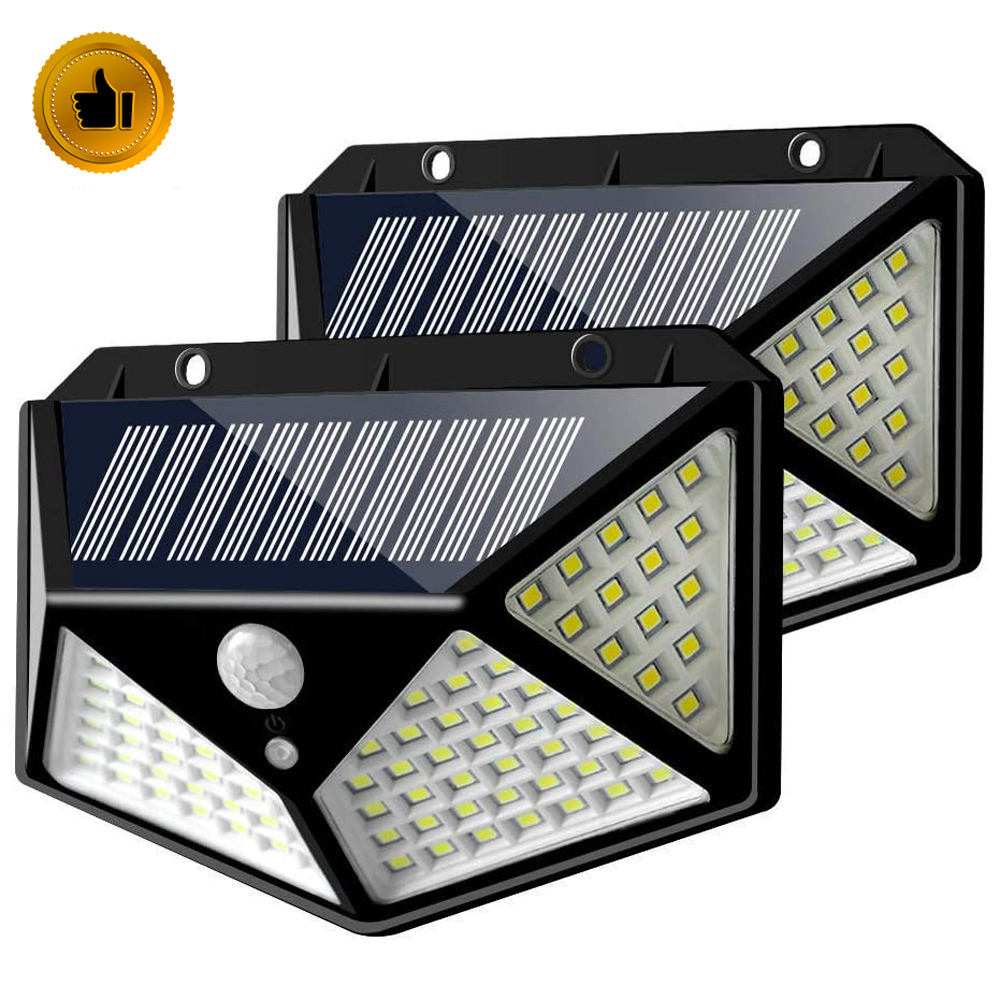 1000lm IP65 Waterproof home led solar light PIR motion sensor Outdoor solar security wall light