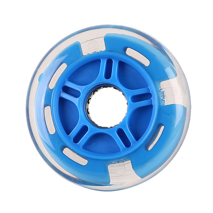 flashing LED inline skate wheel super high rebound PU wheel for inline free skates