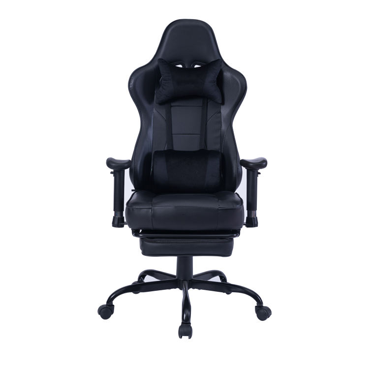 8280 Ergonomic Cheap Black Gaming Chair PC Racing Office Chair With Footrest Custom Logo