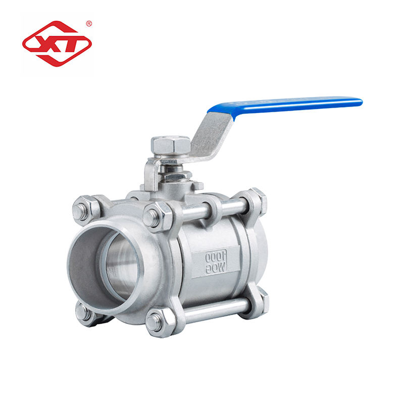 Durable Using high pressure Three-piece screw ball valve 2 inch stainless steel ball valve
