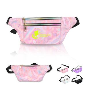 2020 Hot Koop Fashion Accessoire Pu Leather Verstelbare Fanny Pack Shiny Holografische Waterdicht Taille Bericht Tas