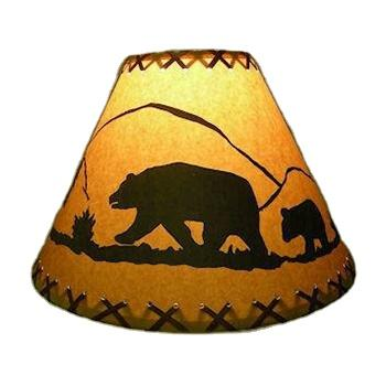 S-1636 rustic faux leather oiled paper table lampshades laced handicraft lighting lamp cover