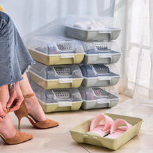 Creative double plastic shoe rack box,shoes rack  with cover for home