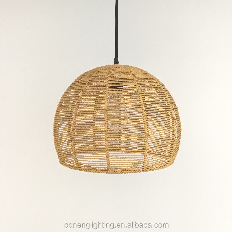 China Traditional Handicraft Rattan Woven Decorative Pendant Light for indoor room