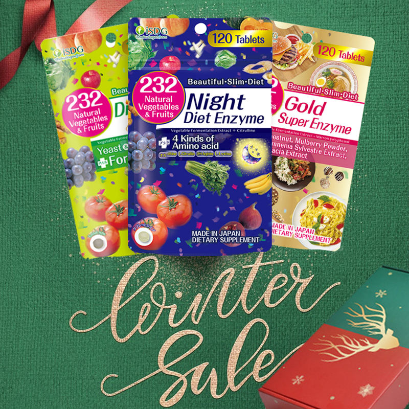 Versione inglese ISDG di Notte + Oro + Dieta Enzyme.120 conta x 3 packs