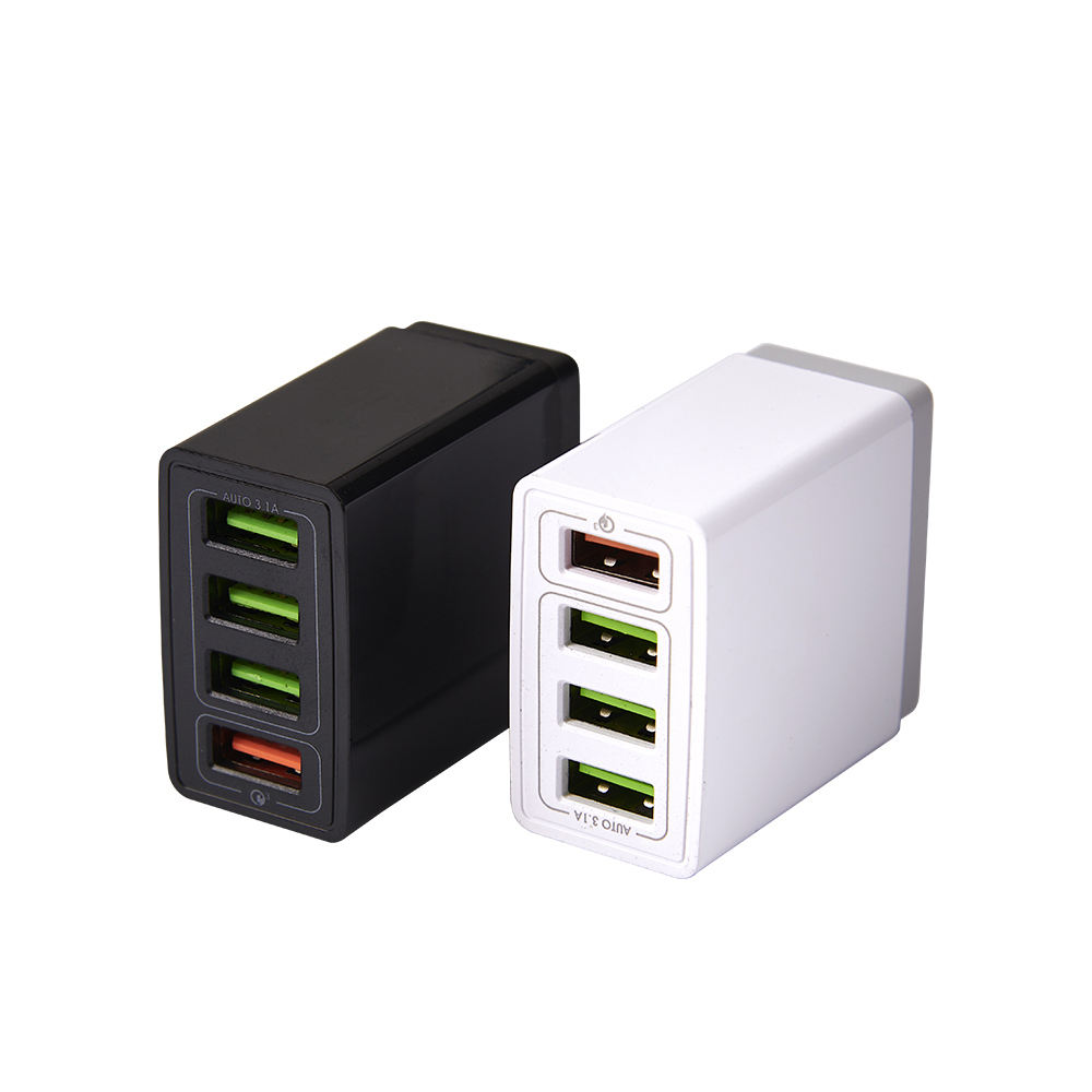 SIPU 3.1A Quick Charge 3.0 Fast Charger UK Plug 4 Port Usb Wall Charger for iPhone UK Plug QC3.0 USB Travel Charger