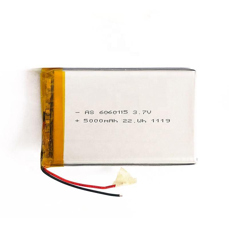 UL aprobado recargable batería de Lipo de 6060115 de 3,7 v 5000mAh <span class=keywords><strong>Li</strong></span>-polímero de baterías para Mini ventilador del escritorio