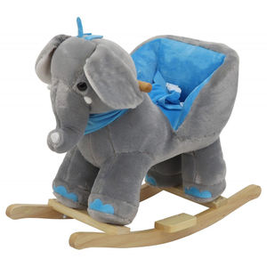 plush elephant rocking chair for baby item  good ride on animal toy for your kids