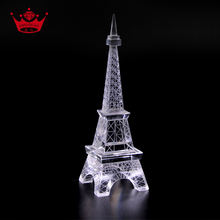 Factory Directly Wholesale Price Lovely Gift Paris Crystal Eiffel Tower Model For Decoration
