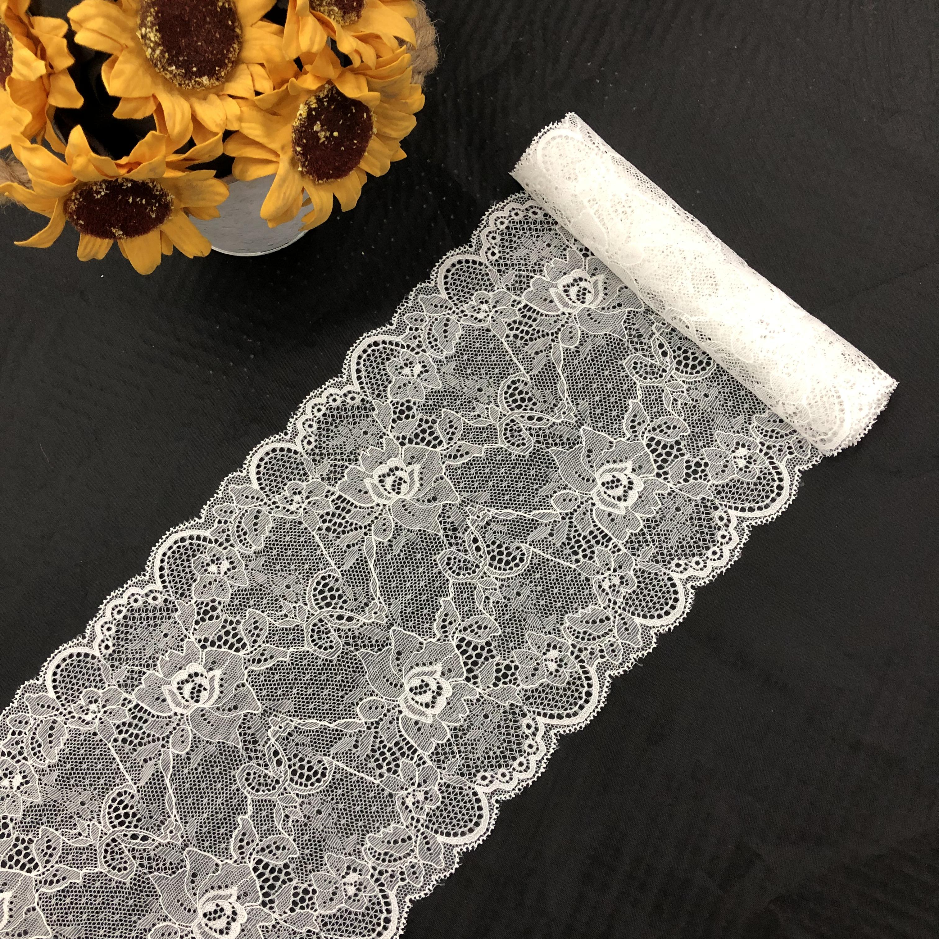 2018 white french lace african wedding border lace trim for dress