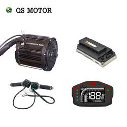 QSmotor 138 72V 100KPH 3kw 5kw Mid drive motor 3000w power train kits with motor controller sprocket type