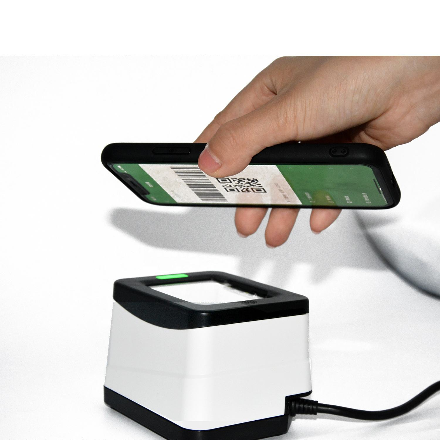 USB / RS232 Mobile Payment Box 2D QR Reader Barcode Scanner HS-2001B