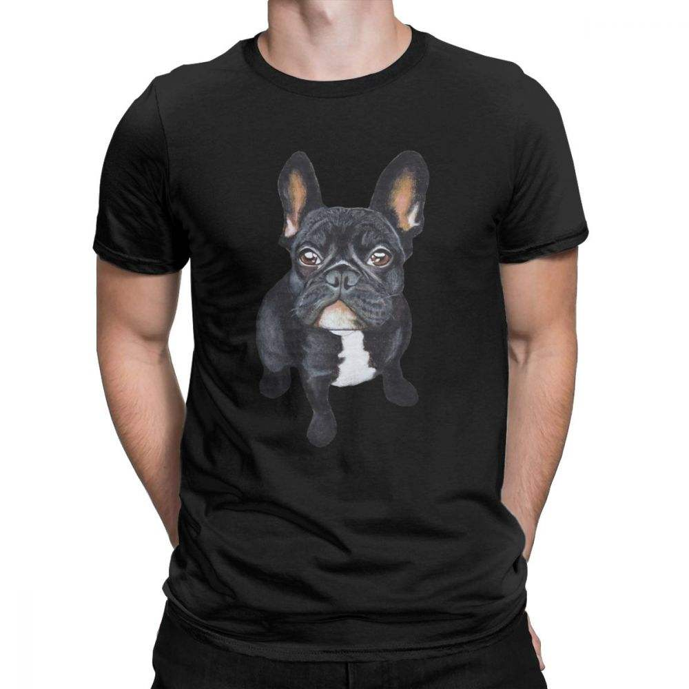 Men's French Bulldog Dog Lover T Shirts Cotton Clothes Novelty Short Sleeve Round Collar Tee Shirt Plus Size T-Shirts 4X 5X 6X