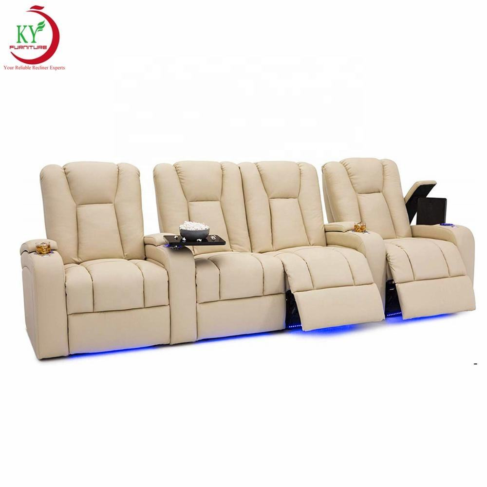 JKY Furniture Relax Luxury Synthetic Leather Adjustable Home Movie Cinema Theater Recliner