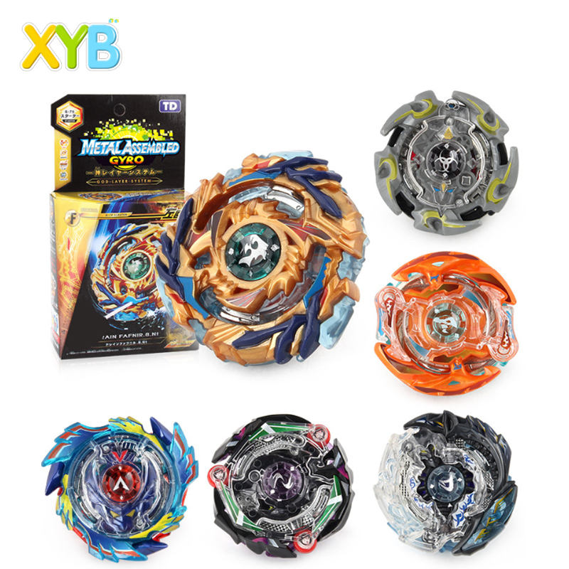XYB Metal assemble Blade Burst 4 Season b-73 b-74,B-75 B-79 B-82 B-85 Metal fusion Spinning Top with Left and Right launcher