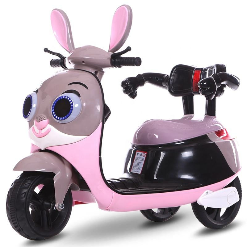 Electric Child Toy Bike Battery Ride on car Rechargeable Leather baby Motorcycle