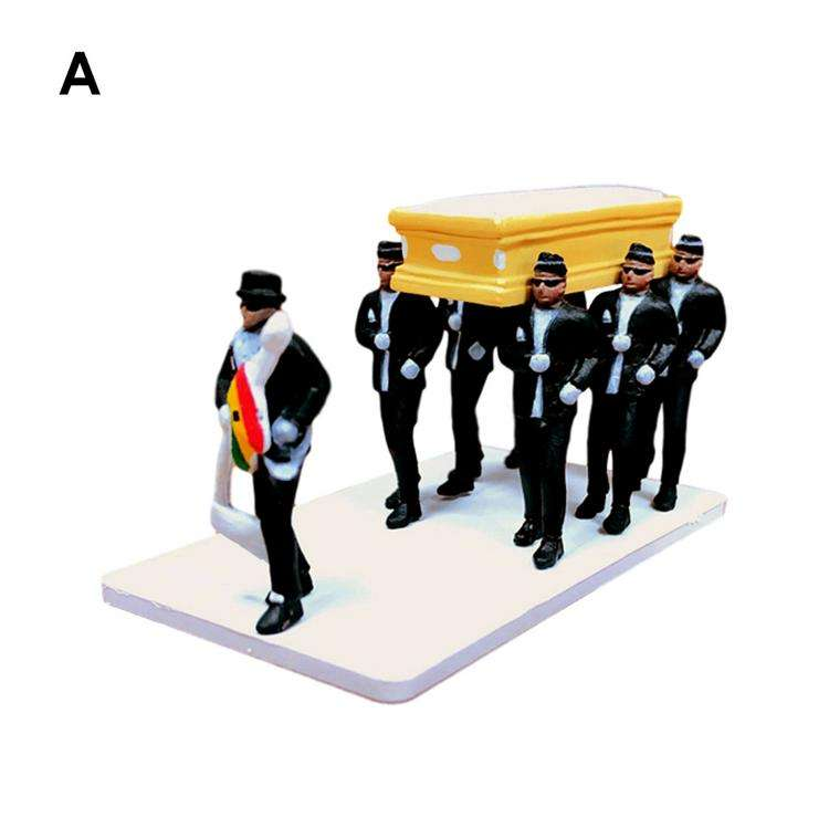 2020 new style black man lifting coffin hand office boy standing and crawling full set of car doll toy model doll