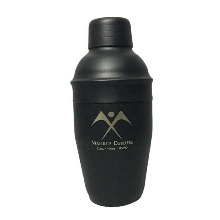 Premiums 25oz 750ml Stainless Steel Bar Black Matte Painting Cocktail Martini Rum Vodka Shaker Mixer+Customized Color&Laser Logo