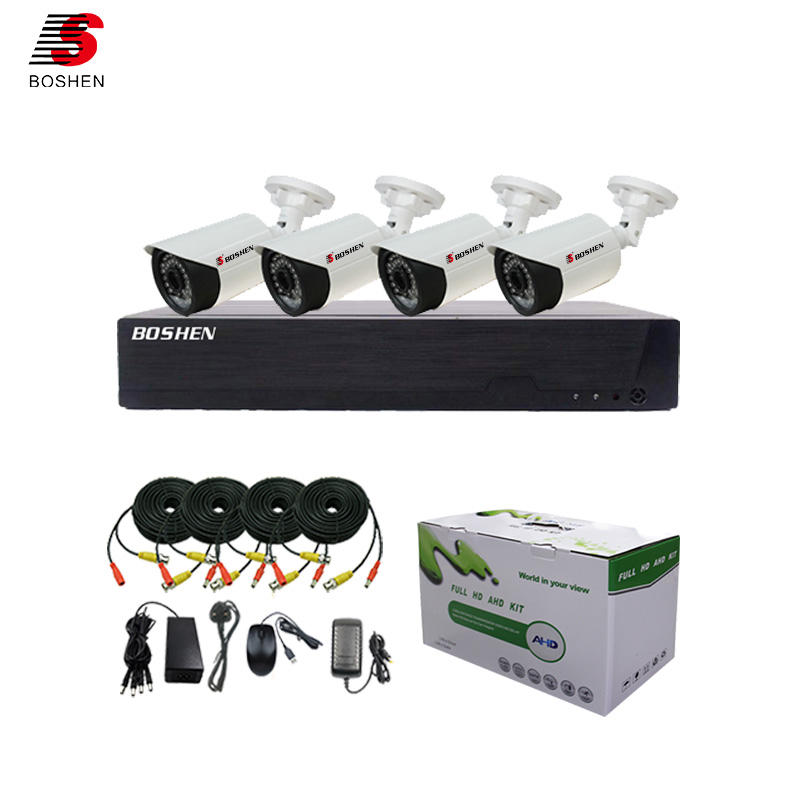 Boshen top 10 profesional DIY smart home video surveillance hd 4ch 1080n 4 in 1 DVR kit outdoor 1080p cctv camera