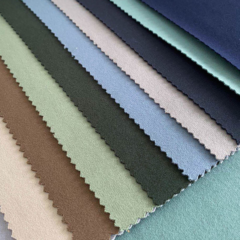 Shaoxing Fabric NR ROMA Vortex For INDIAN Market Wholesale Textiles 65/31/4 R/N/SPAN Ponte Roma Fabric