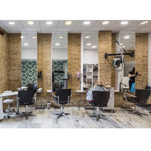 Beauty Barber Shop Interior Decoration Design Custom Hair Salon Display Furniture For Sale