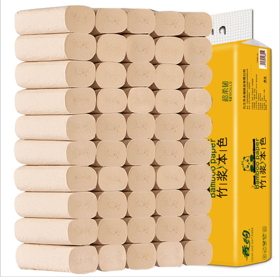 Wholesale 4 ply100% virgin bamboo pulp toilet paper bath tissue toilet paper tissue