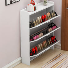 Space saving rotating narrow mdf wooden shoe cabinet custom size