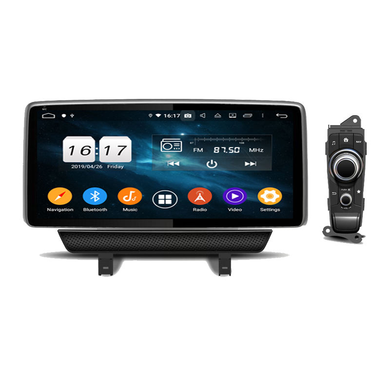 Klyde Autoradio Android Speler 10.25 ''Hd Touch Screen Bluetooth Radio Stereo Fm/MP3/MP4/Audio/ video/Usb Voor CX-3 2018-2019