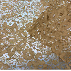 Newest orange african lace fabric guipure lace fabric corded gold nigerian lace fabric china factory