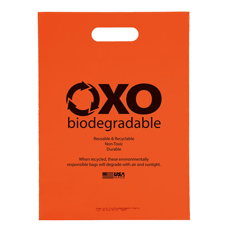 Wholesale Printed Logo Size Usa 100%biodegradable Oxo Biodegradable Reusable Recyclable Durable Non-toxic Die Cut Plastic Bags