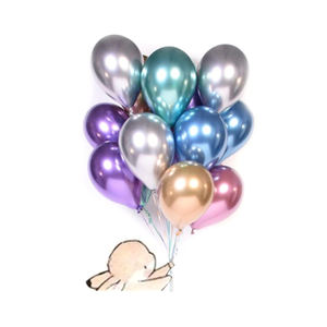 2020 Hot Sell Party Supplies Helium Chrome Metallic Color Balloon 12 Inch Round Latex Balloon