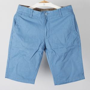 trade assured new blue cotton twill canvas casual chino mens shorts with welt pockets