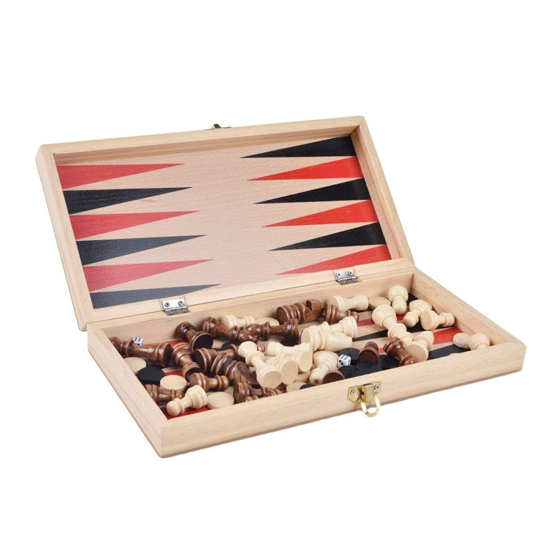 2 In 1 Vouwen Chiness Schaken Bordspel Backgammon <span class=keywords><strong>Checkers</strong></span>