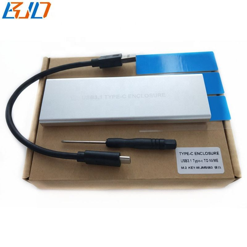 USB 3.1 Type C to M.2 NGFF M key NVMe Adapter Card Gen 2 10 Gbps +SSD Enclosure Case in stock