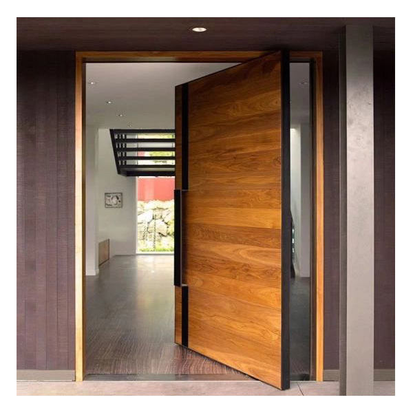 European Style Exterior Center Front Door Pivot Door Solid Wood Main Door Designs