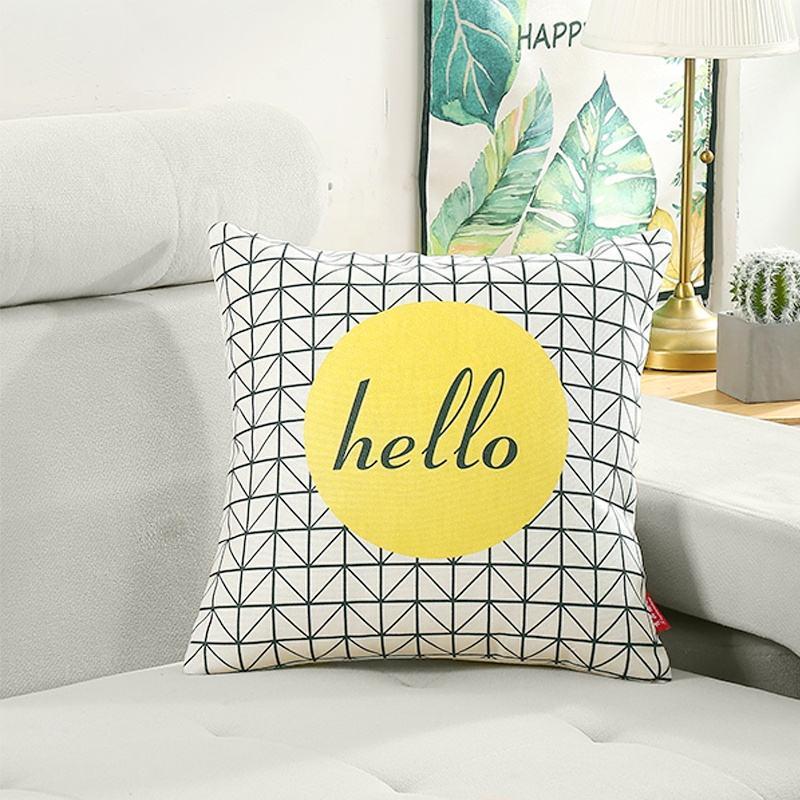 Nórdico hogar Decoración algodón de lino de almohada