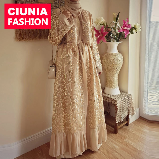 1711 # <span class=keywords><strong>Muslim</strong></span> <span class=keywords><strong>Wanita</strong></span> Terbuka Abaya <span class=keywords><strong>Gaun</strong></span> Sabuk Islam Maxi <span class=keywords><strong>Gaun</strong></span> untuk <span class=keywords><strong>Wanita</strong></span> Dubai Abaya 2019