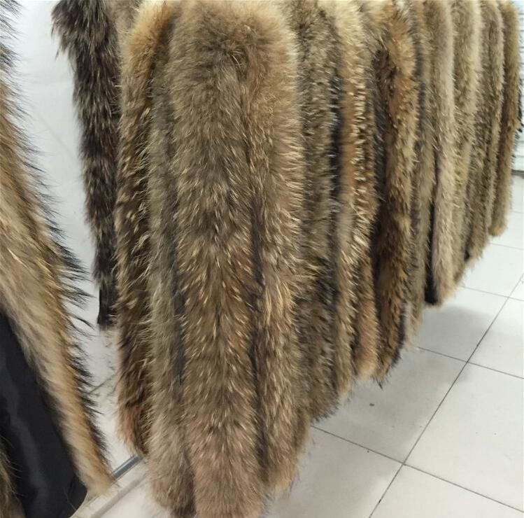 Factory wholesale raw or dyed colors real racoon raccoon fur trimming