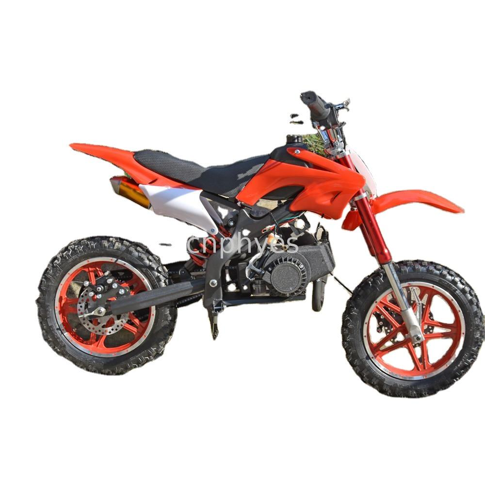 china phyes Popular 2 Stroke 49cc 50cc Mini Dirt Bike cross bike pit bike for Kids small motorcycle