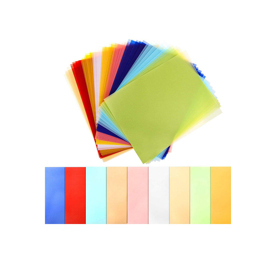 Colored Vellum Paper 8.5x11 9 Colors Transparent Clear Translucent Tracing Paper Printable Vellum Paper