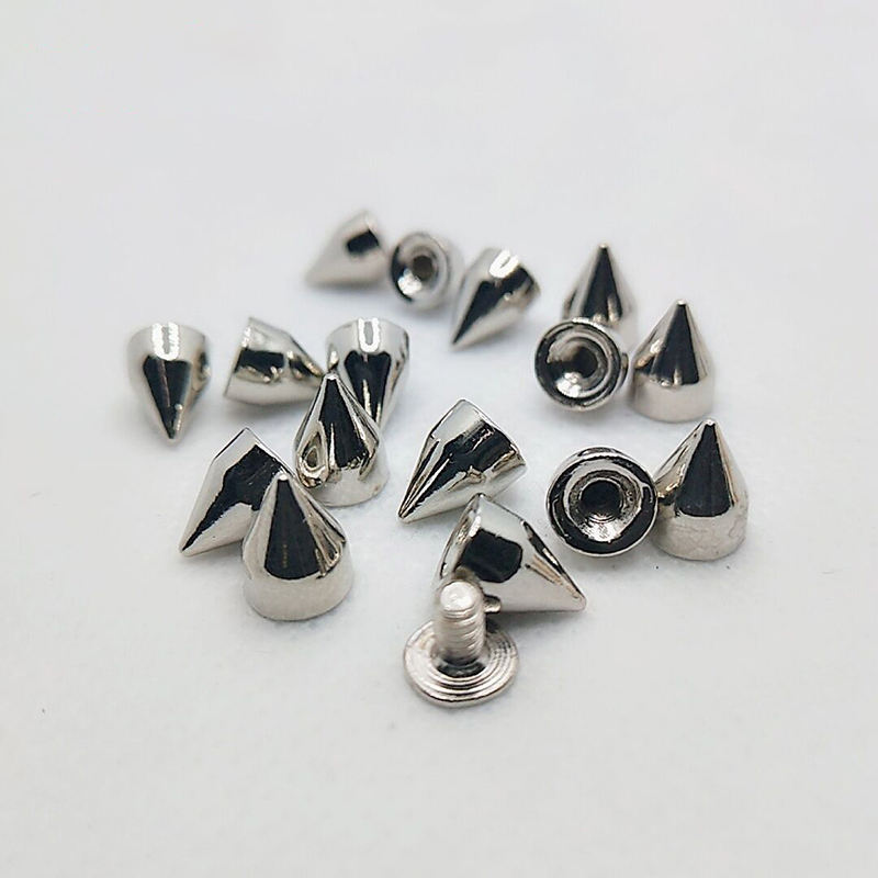 Studs Rivet Bullet Spike Cone Screw Leather Craft DIY 7X9mm