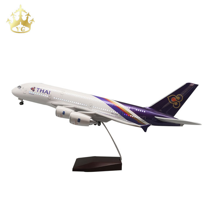 Plastic Model Of Plane Airplane Airbus A380 Thai Airlines 1/160 Engines Diecast