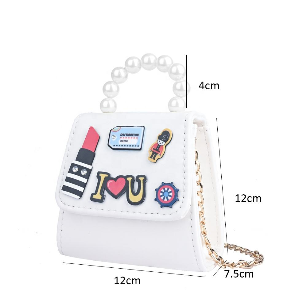 customised logo small anime pvc leather round kids coin purse