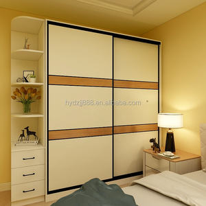 New simple style wooden armoire sliding door armoire for bedrroom