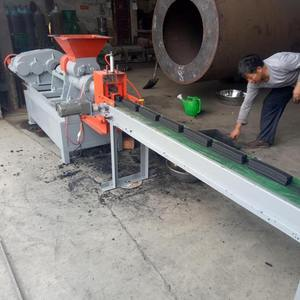 BBQ rectangular shape charcoal making machine price