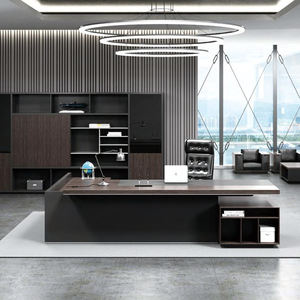 High Quality Modern Office Interior Design Wooden Boss Office Furniture Product