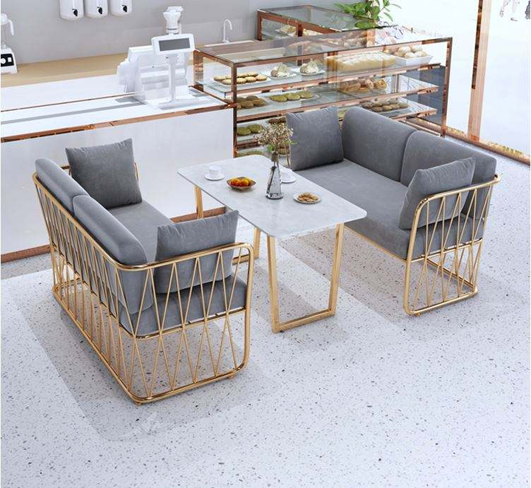 Coffee Table Living Room Furniture Modern Marble Round Coffee Table Set Small Side Tea Coffee Chair Table